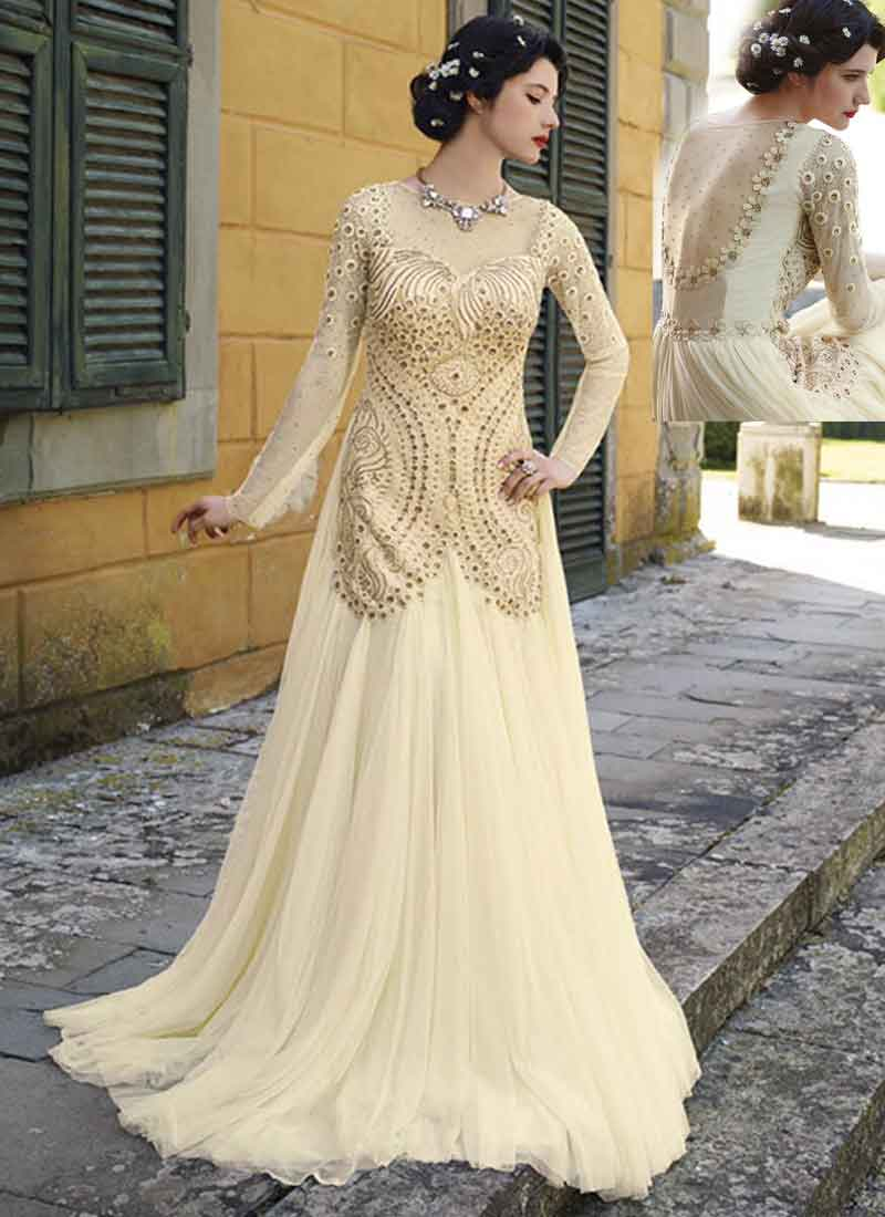 100 off white wedding dresses ysa makino 68982 g498edsdyts off white wedding dresses organic off white thread diamond work net wedding gown online ombrellifo Choice Image