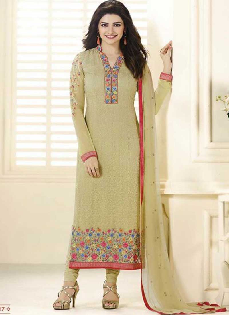 49cd6674d0 Prachi Desai Designer Mustard Embroidered Stone Work Lace Border Salwar  kameez