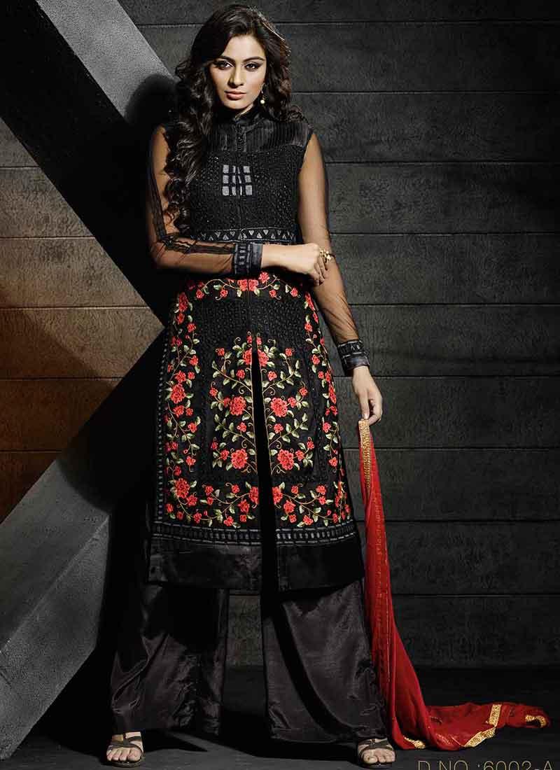 Black net dresses pakistani fashion