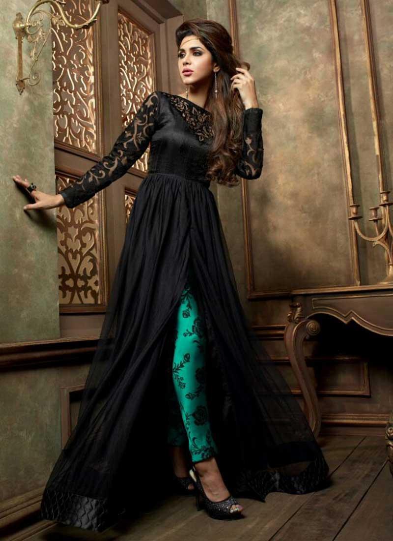 Pakistani designer dresses in black