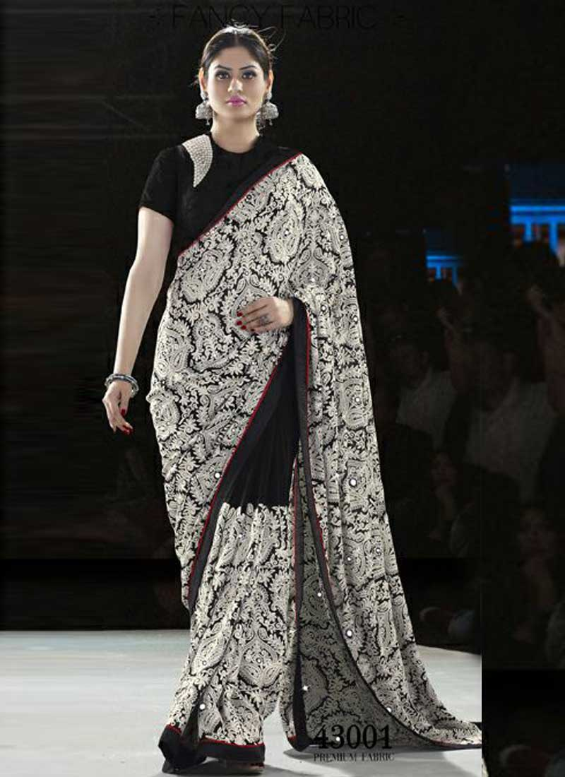 Blasting Black Embroidery Thread Work Silk Designer Sarees Buy Silk