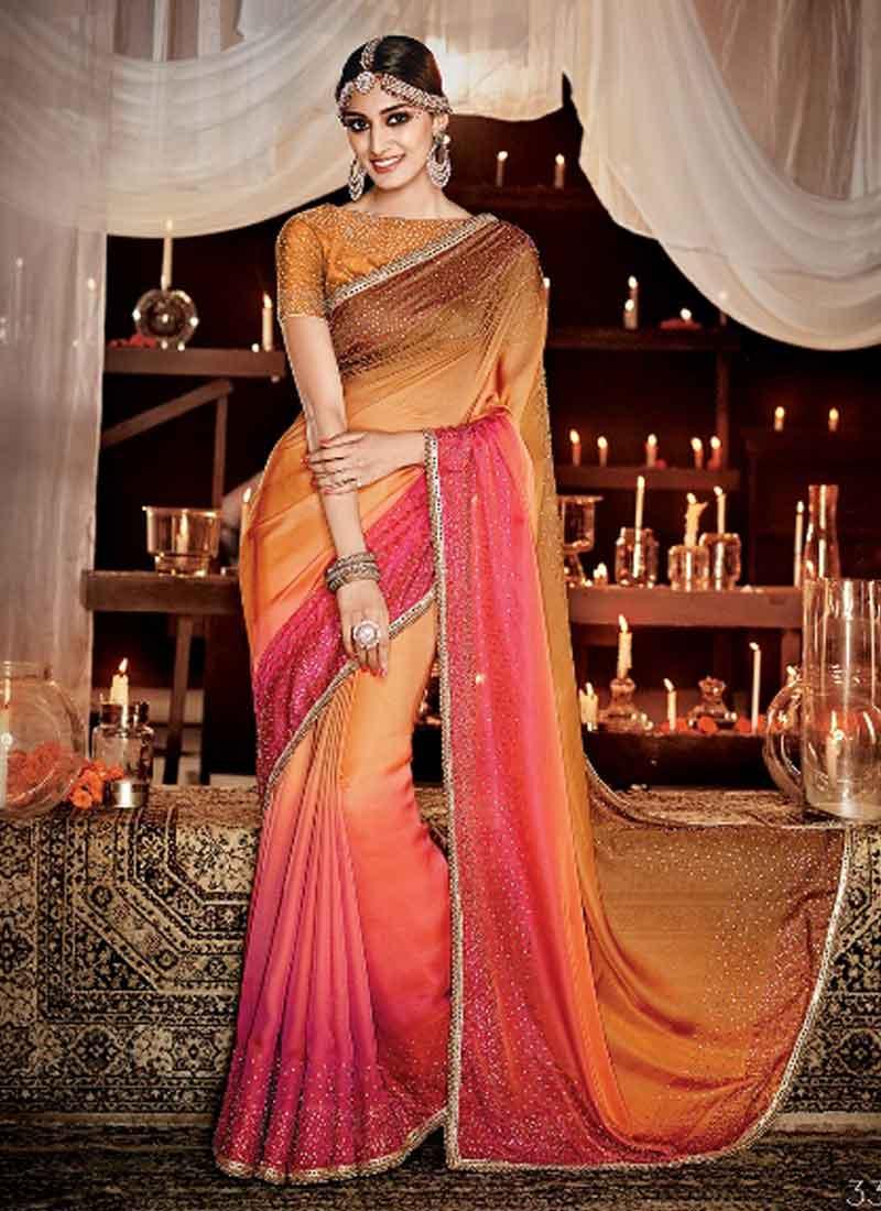 a4bc6285d2 Sensible Multi Color Spray Mirror Work Pure Silk Designer Bridal Sarees