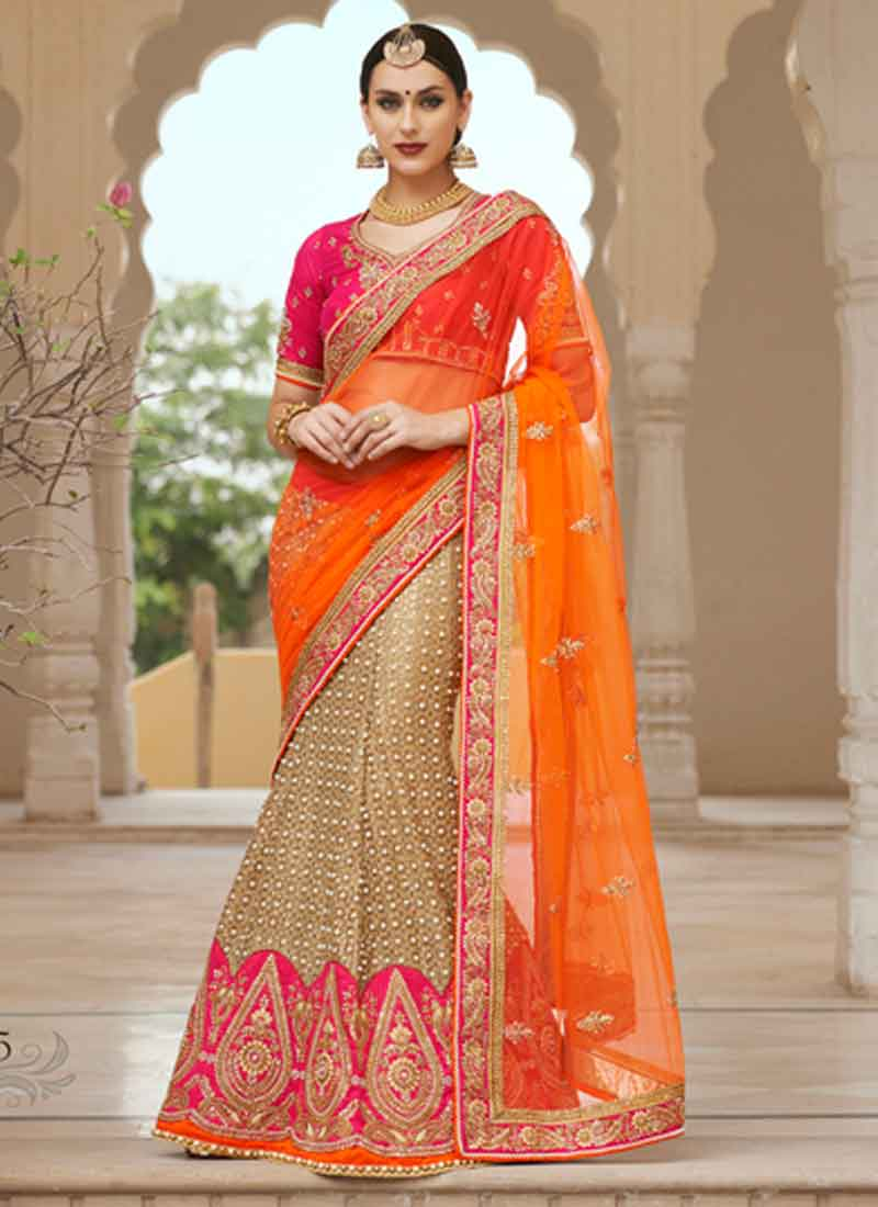 a0e9eed736 Amazing Flawless Net Zardosi Work Designer Lehenga Sarees. Buy ...