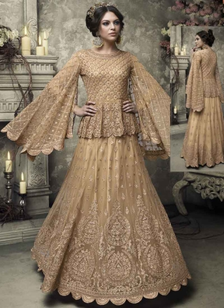 a8f78cdbed Chikku Colour Embroidery Multi Work Heavy Net Designer Party Wear Salwar  Kameez