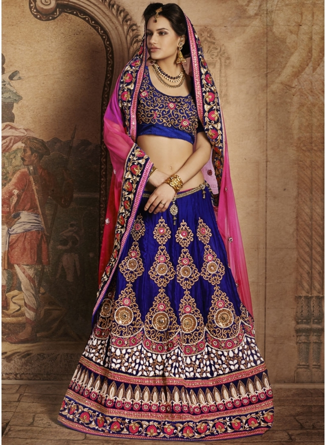 Diwali and Navratri Special Thrive Frill Bridal Lehenga 1606